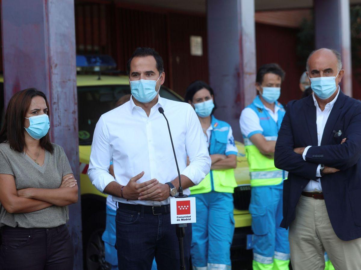 Foto: El vicepresidente de la Comunidad de Madrid, Ignacio Aguado (i). (EFE)