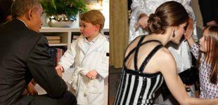 Post de La hija de Macri emula al príncipe George y saluda en pijama a Letizia