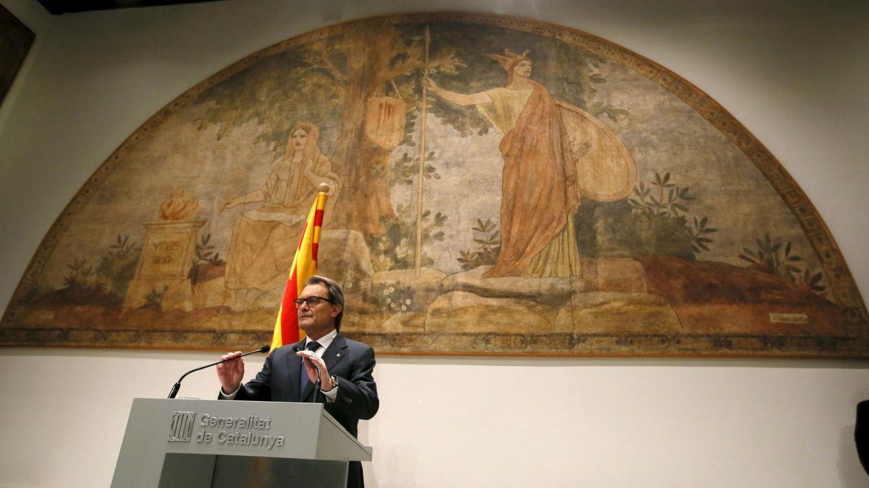 Foto: Artur Mas, durante su comparecencia pública. (Reuters)
