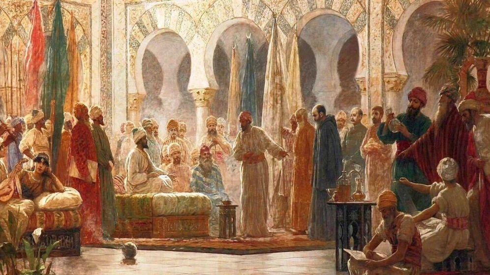 Foto: La corte de Abderramán en Medina Azsahara, de Dionisio Baixeras Verdaguer (Universidad de Barcelona)