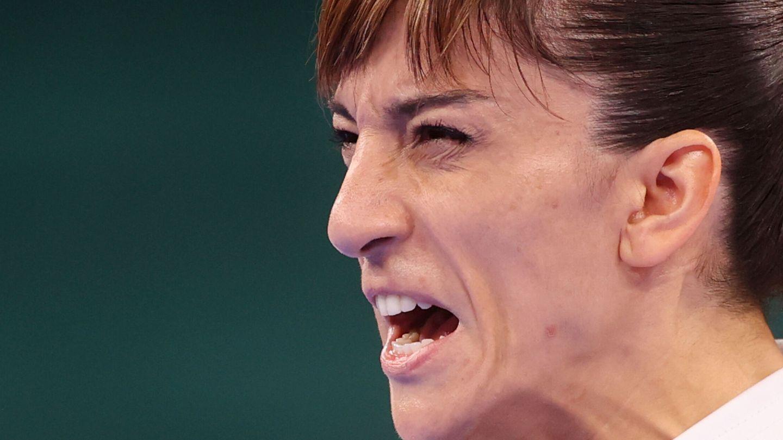 Sandra Sánchez, durante su prueba. (Reuters)