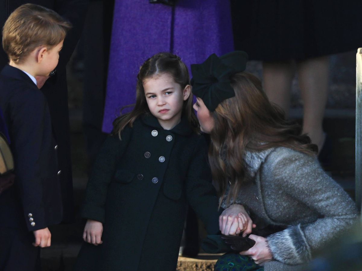 Foto: George, Charlotte y Kate Middleton. (Getty)