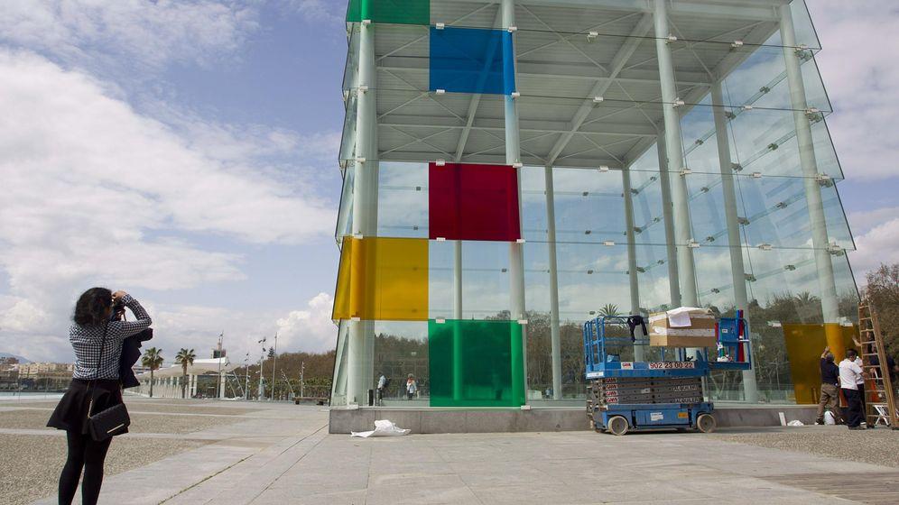 Foto: Fotografía del estreno del Centro Pompidou de Málaga en 2015 (EFE).