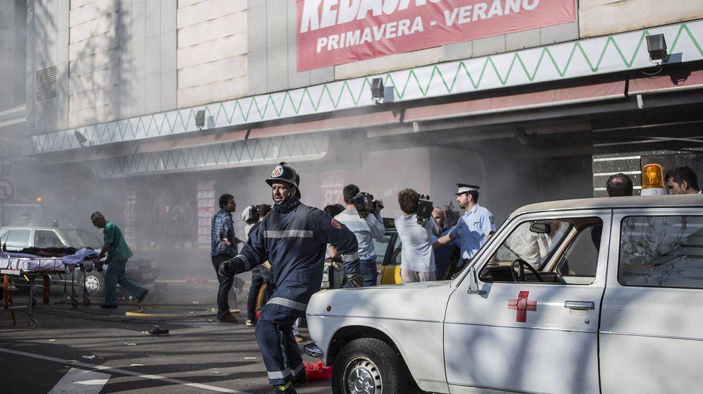 Foto: Recreación del atentado de Hipercor en 'Cuéntame cómo pasó'. (RTVE)