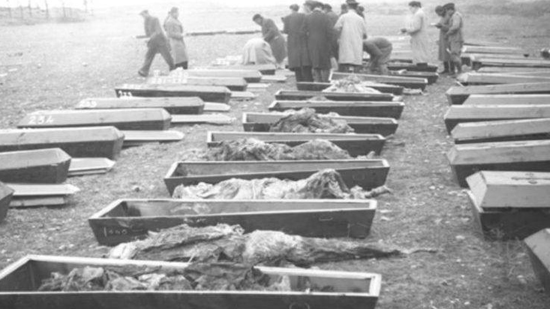 Exhumación de cadáveres en Soto de la Aldovea