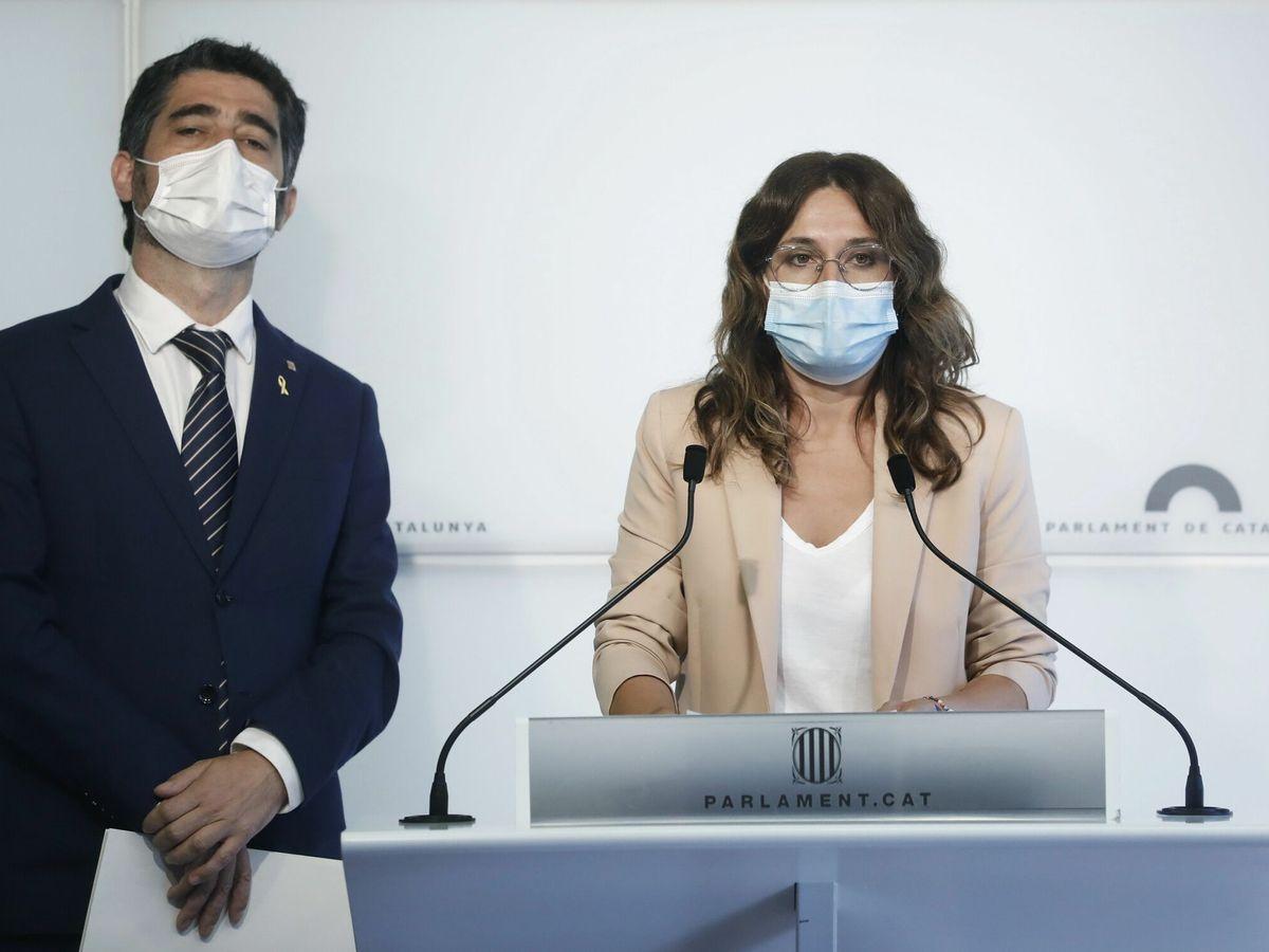 Foto: El vicepresidente del Govern, Jordi Puigneró, y la 'consellera' de la Presidencia, Laura Vilagrá. (EFE)