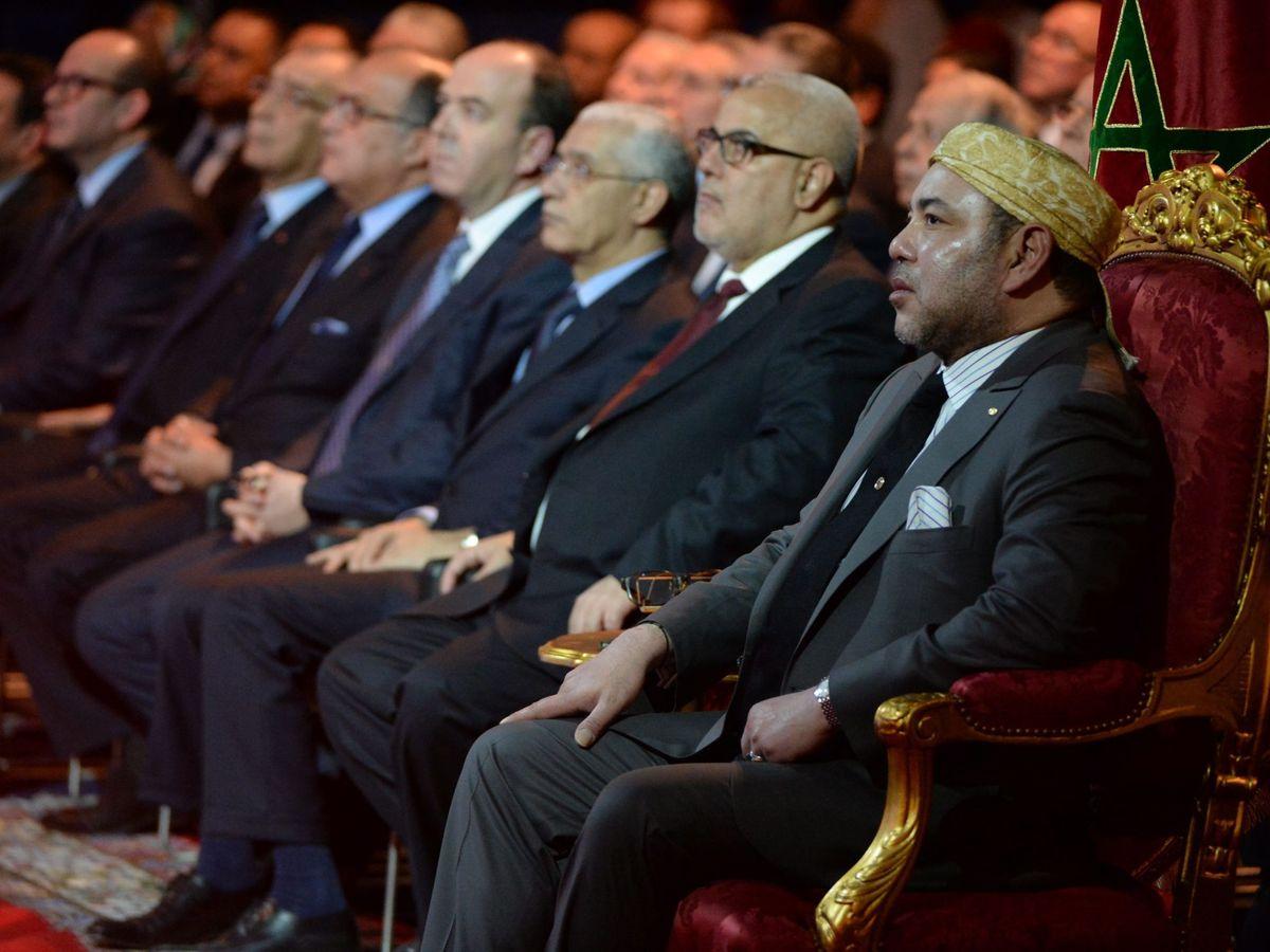 Foto: Foto de archivo de Mohamed VI durante la inauguración de una planta solar financiada por el BEI. (EFE)