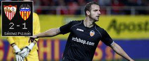 Roberto Soldado mete al Valencia en cuartos pese al achuchón final del Sevilla