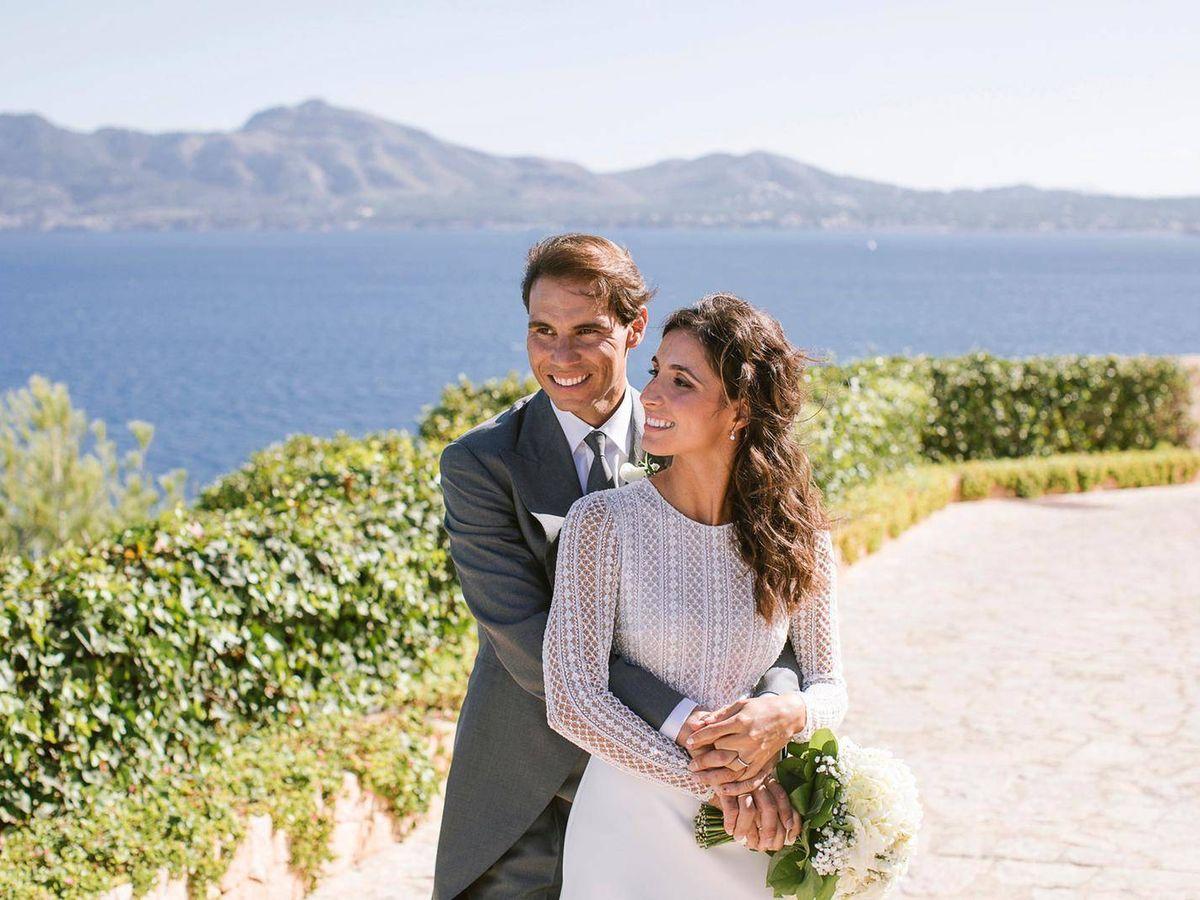 Foto: Rafa Nadal y Xisca Perelló recién casados. (Fundación Rafa Nadal)