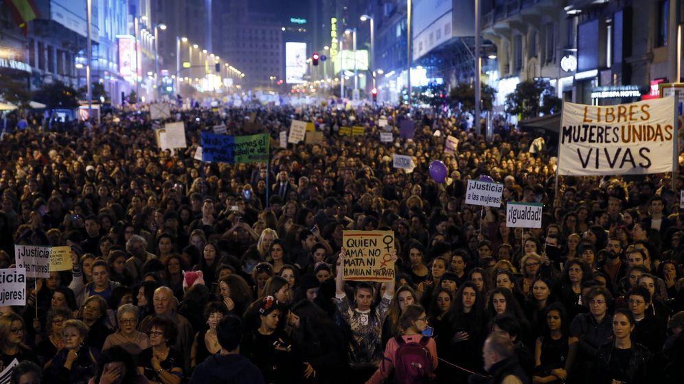 Foto: Manifestación por el día de la mujer en Madrid (EFE)