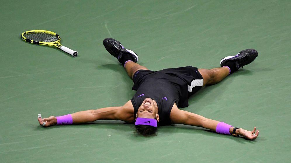 Foto: Rafa Nadal celebra su US Open ante Medvedev. (EFE)