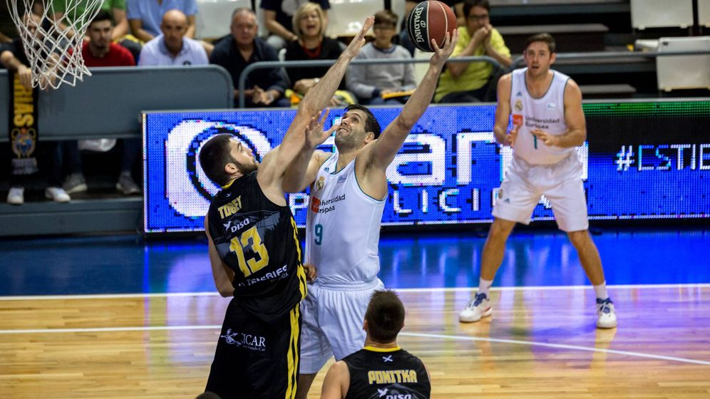 Foto: Felipe Reyes fue el máximo anotador en el Iberostar Tenerife-Real Madrid. (ACB Photo/Á. Pérez)