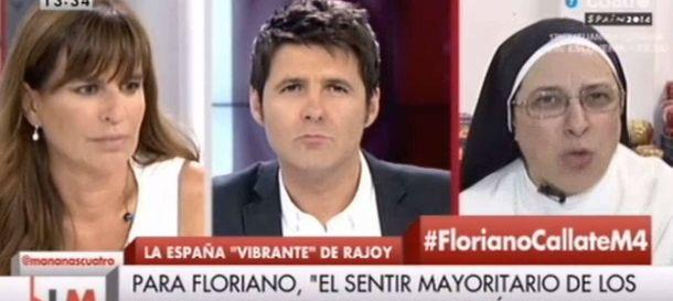 Foto: Sor Lucía Caram: Carlos Floriano es el idiota útil del Partido Popular