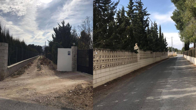 El extrarradio rural de Yecla está lleno de viviendas y naves agrícolas poco vigiladas por la policía.