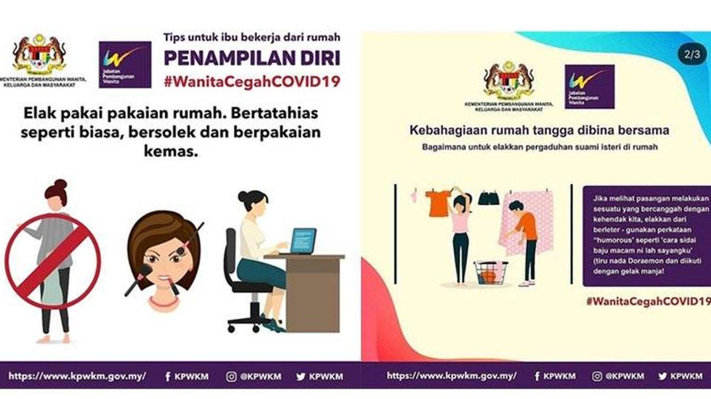 Malasia se disculpa por su guía sexista para la cuarentena: Evita discutir