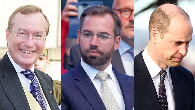 Liam de Luxemburgo, los otros dos Guillermos de Luxemburgo, el duque de Cambridge y el rey de Holanda.