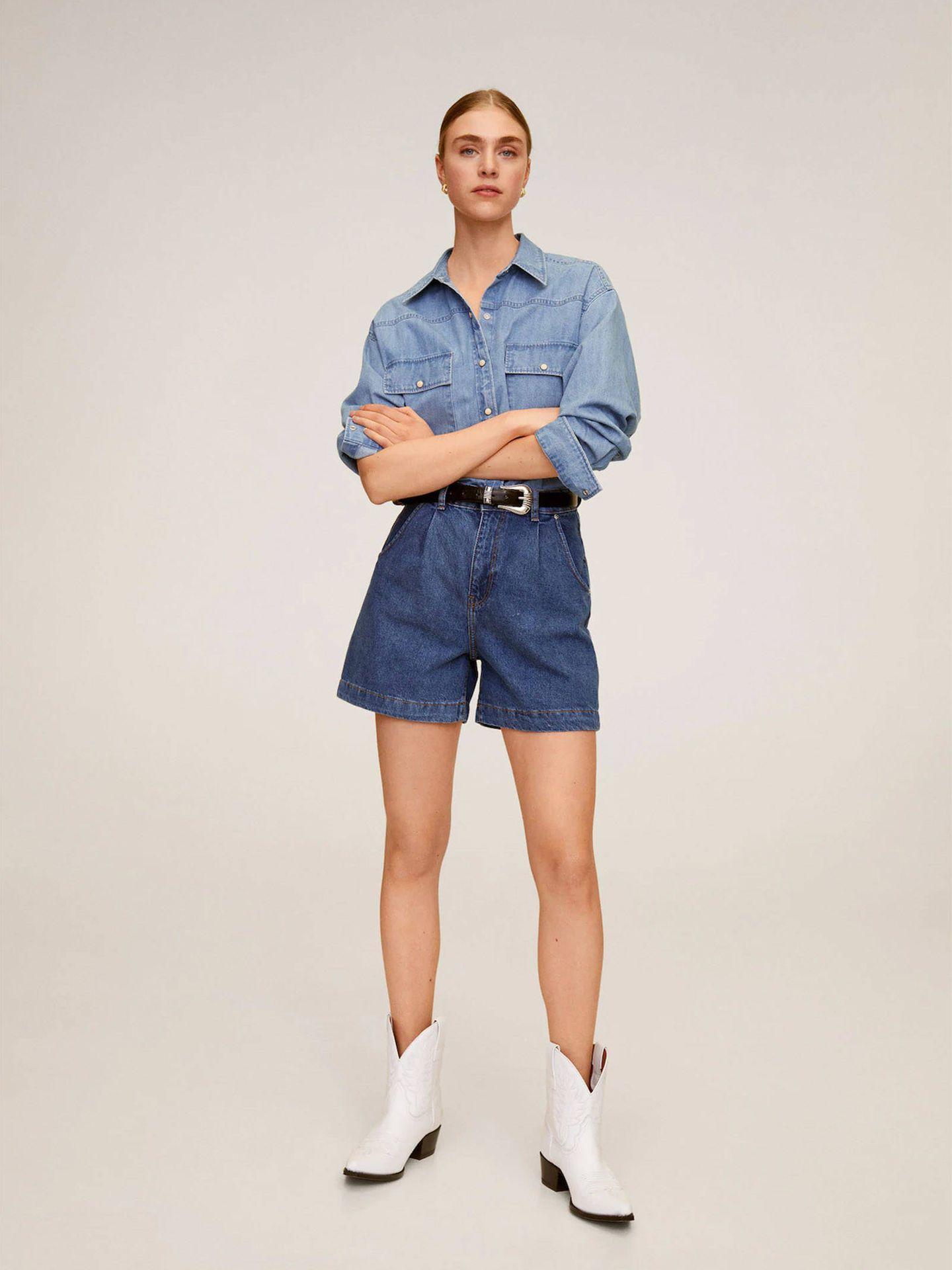 Pantalones cortos de Mango Outlet. (Cortesía)