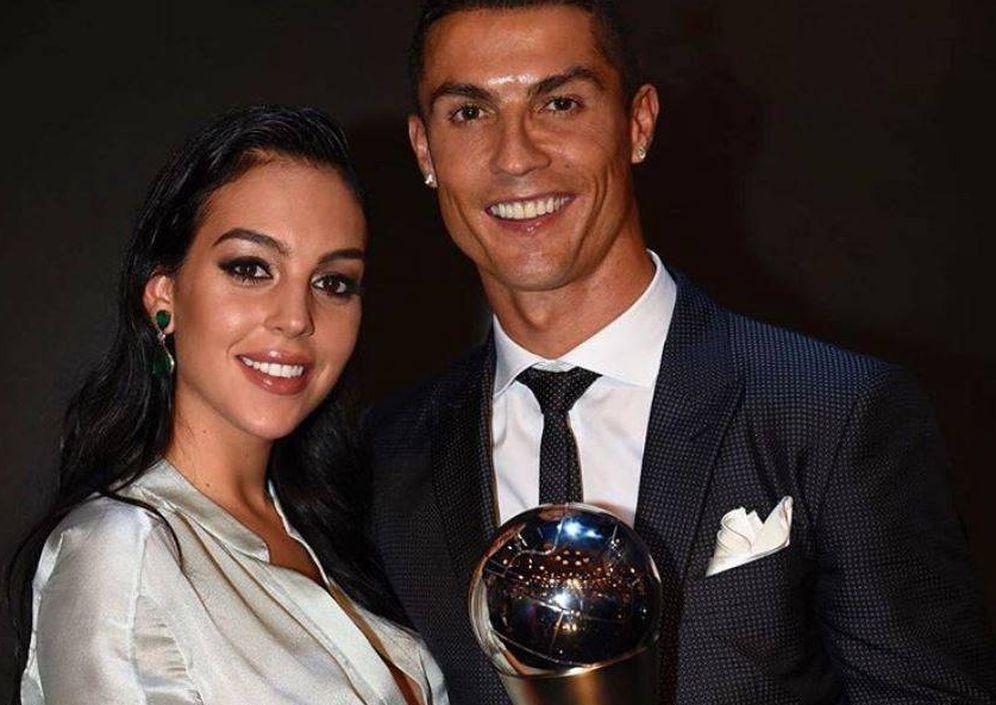 Foto: Cristiano y Georgina en los premios The Best. (Instagram)