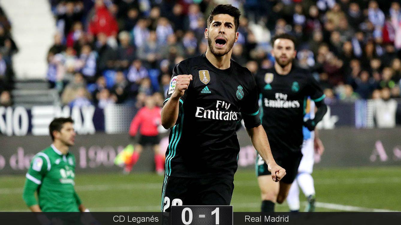 Foto: Asensio celebra el gol que encarrila el pase a semifinales. (EFE)