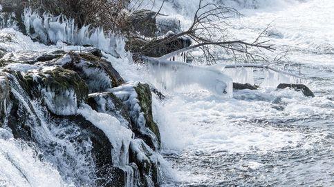 Las cataratas del Rin, congeladas, y celebración del Holi: el día en fotos