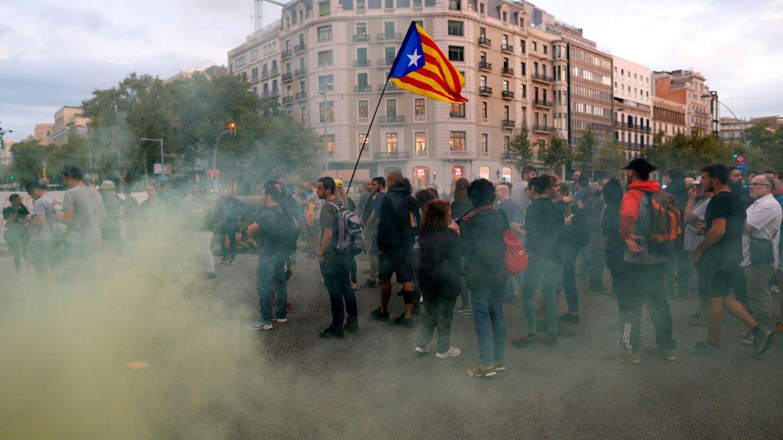 Manifestaciones en el aniversario del 1-O. (EFE)