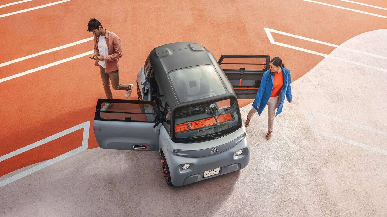 De convertirse en una realidad a nivel comercial, el cuadriciclo de The e-Miles Company se convertiría en una alternativa al Citroën Ami, también eléctrico y lanzado este año.