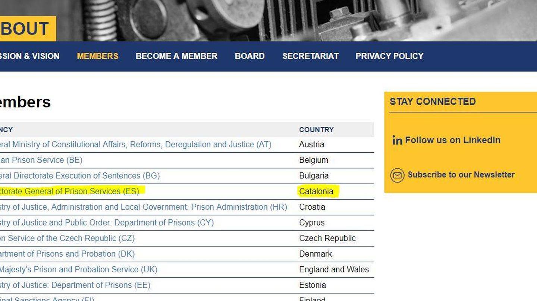 En la web de Europris, Cataluña figura junto a otros estados europeos.