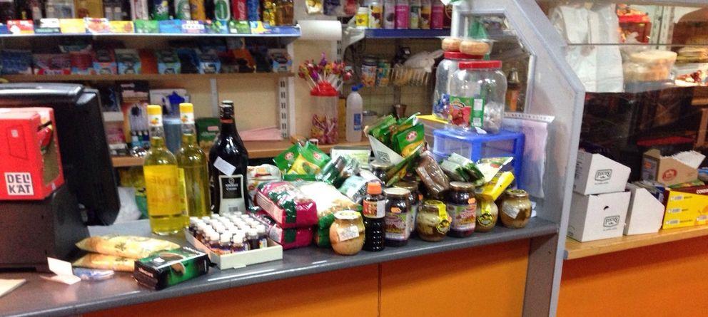 Foto: La tienda de alimentación intervenida por la Policía Municipal.