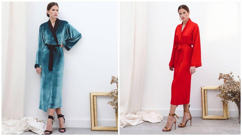 Kimono de la firma Victoria Colección. (Cortesía)