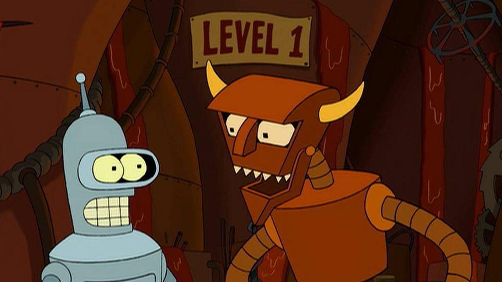 Foto: Bender Doblador Rodríguez y el Diablo Robot en 'Futurama'.