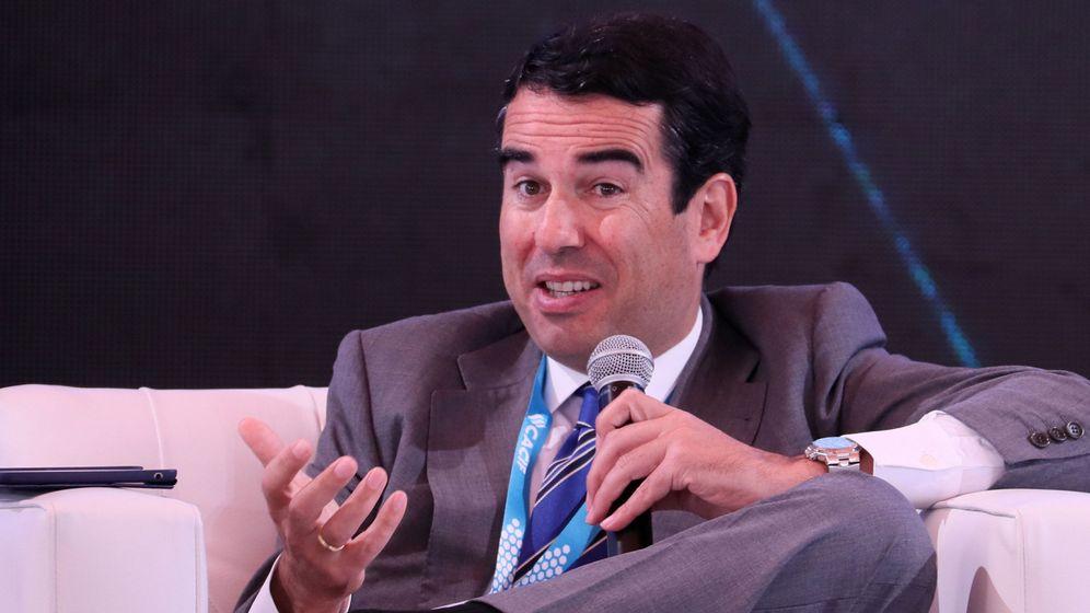 Foto: Javier Botín, dueño de JB Capital Markets, en un encuentro en Guatemala de 2018. (EFE)
