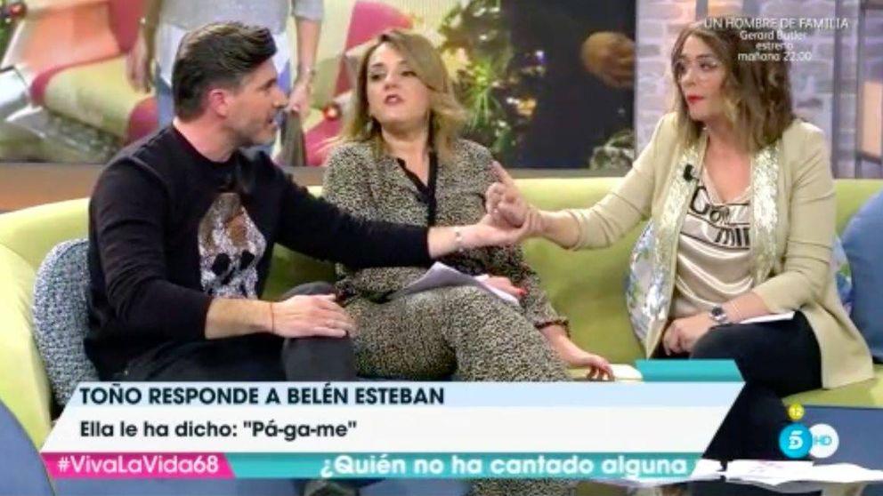 Bronca entre Toñi Moreno y Toño Sanchís por la Esteban: Me has mentido