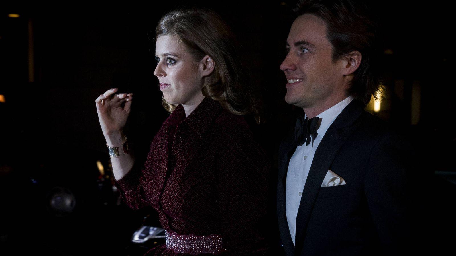 Foto: Beatriz de York y Edoardo Mapelli, en su primera aparición oficial. (Getty)