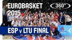 Repasa la final del EuroBasket que España le ganó a Lituania en 360º