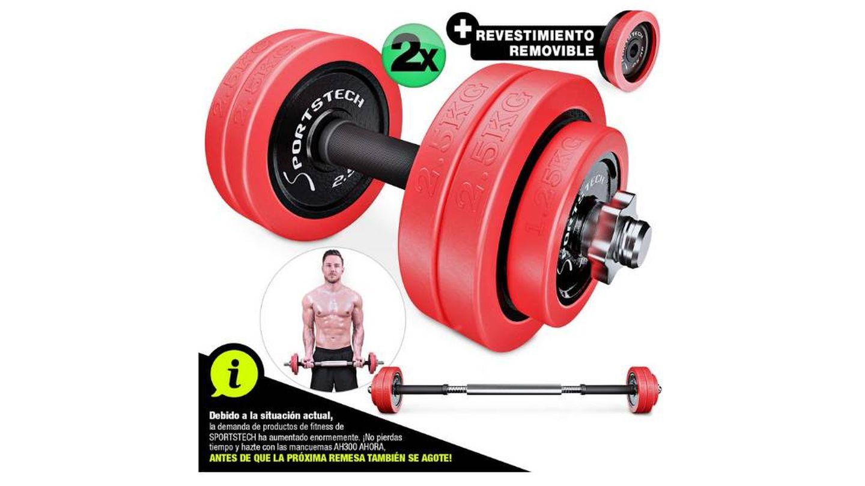 Juego de pesas ajustables de hierro fundido Sportstech