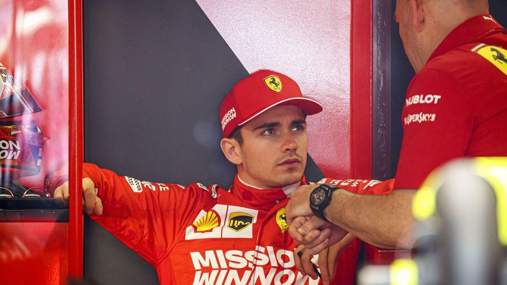 Foto: Ferrari arruinó las posibilidades de Leclerc. (EFE)