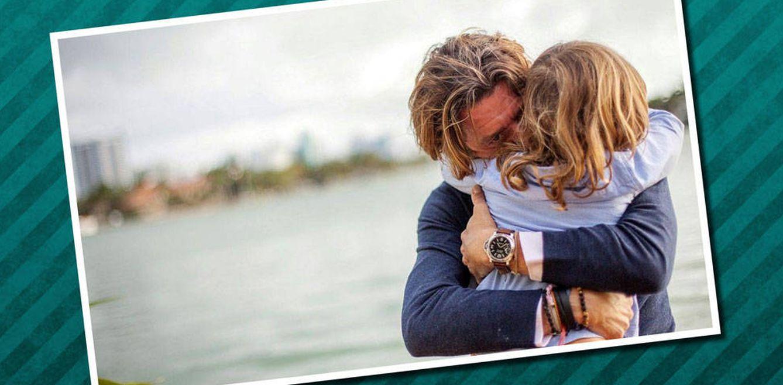 Foto: Nicolás Vallejo-Nágera con su hijo Andrea (Instagram)