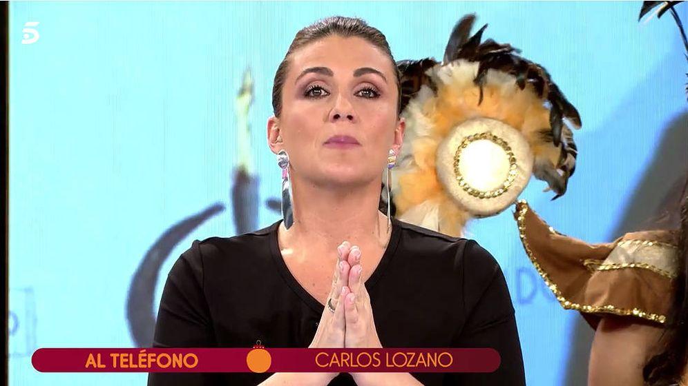 Foto: Carlota Corredera pide moderación a Carlos Lozano. (Mediaset)