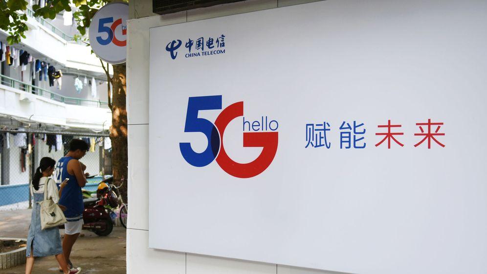 Foto: Cartel publicitario del 5G en Haikou, China. (Reuters)