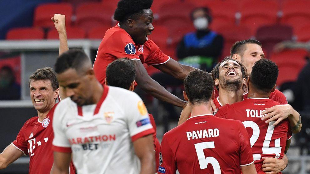 El Sevilla aguanta al Bayern hasta la prórroga antes de perder la Supercopa de Europa (2-1)
