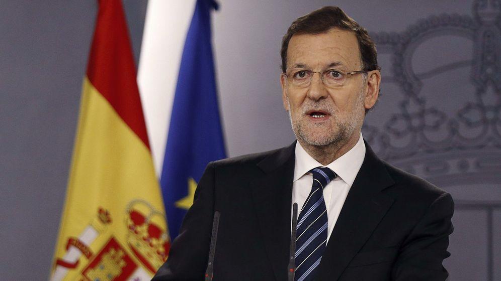 Foto: El presidente del Gobierno, Mariano Rajoy, en su comparecencia sobre la consulta del 9N (Efe)