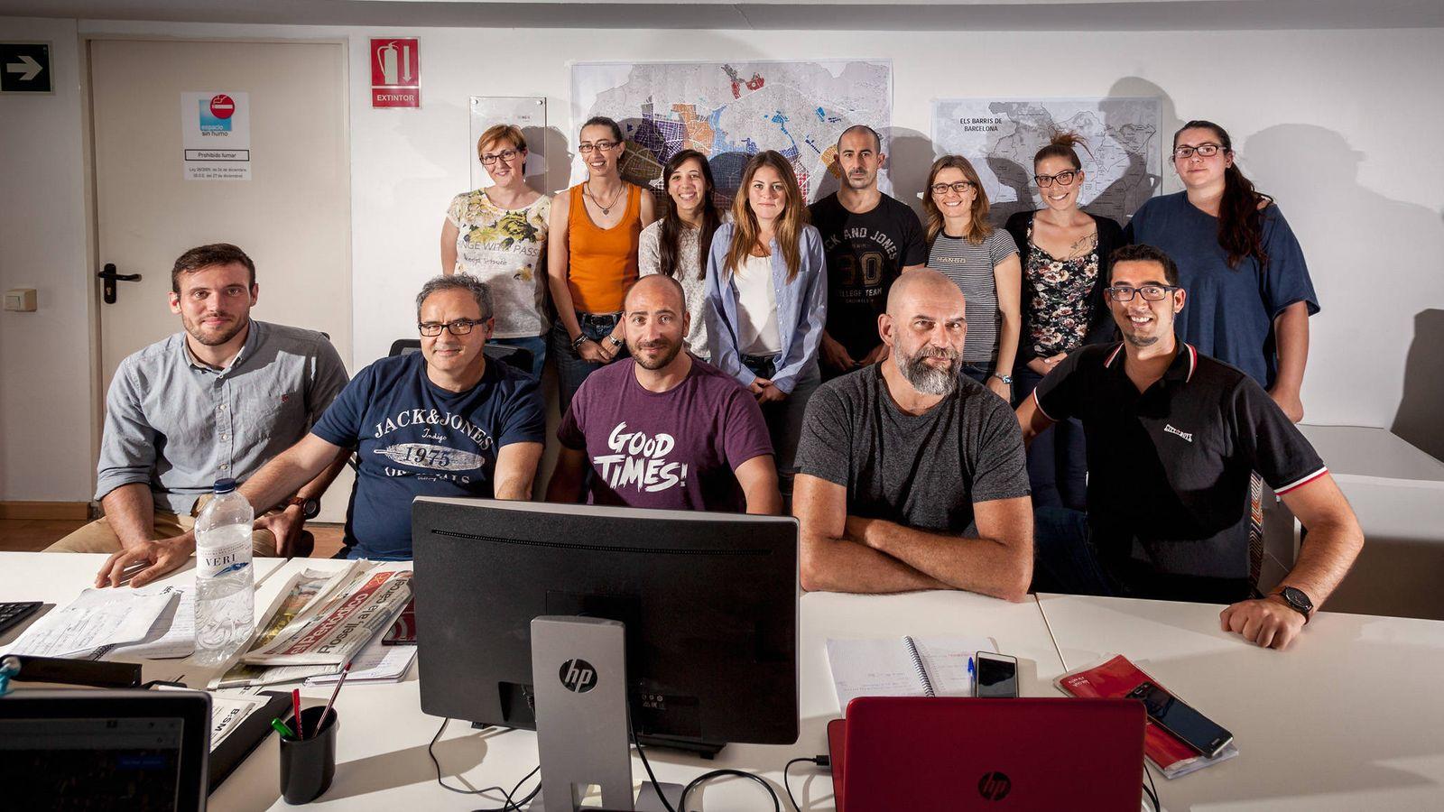Foto: Los visualizadores del ayuntamiento de Barcelona.