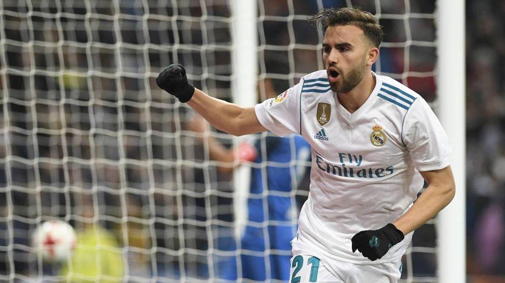Foto: Mayoral celebra un gol con el Real Madrid, el club con el que tiene contrato hasta 2021. (EFE)