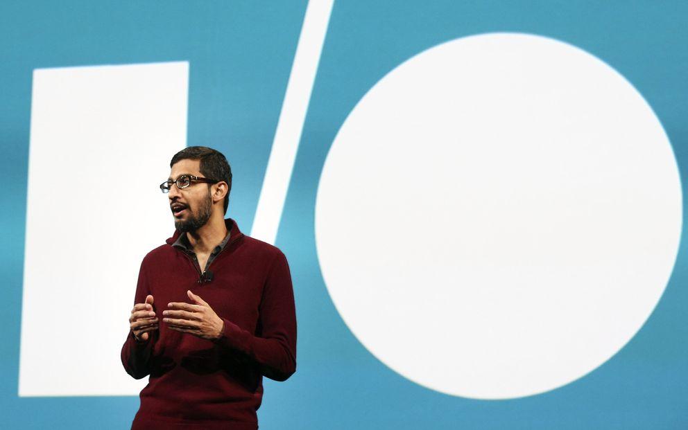 Foto: Sundar Pichai, vicepresidente de Google, durante la Google I/O (Reuters)
