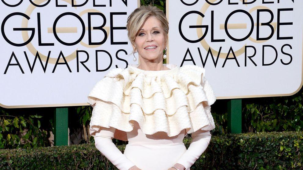 La 'mesa camilla' de Jane Fonda, las lágrimas de Gaga y la mala baba de Gervais