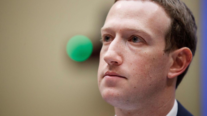Zuckerberg, durante su comparecencia en el Senado de EEUU, en abril de 2018. (Reuters)