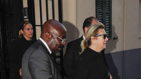 Syliane de Vilallonga, destrozada en el funeral de su marido