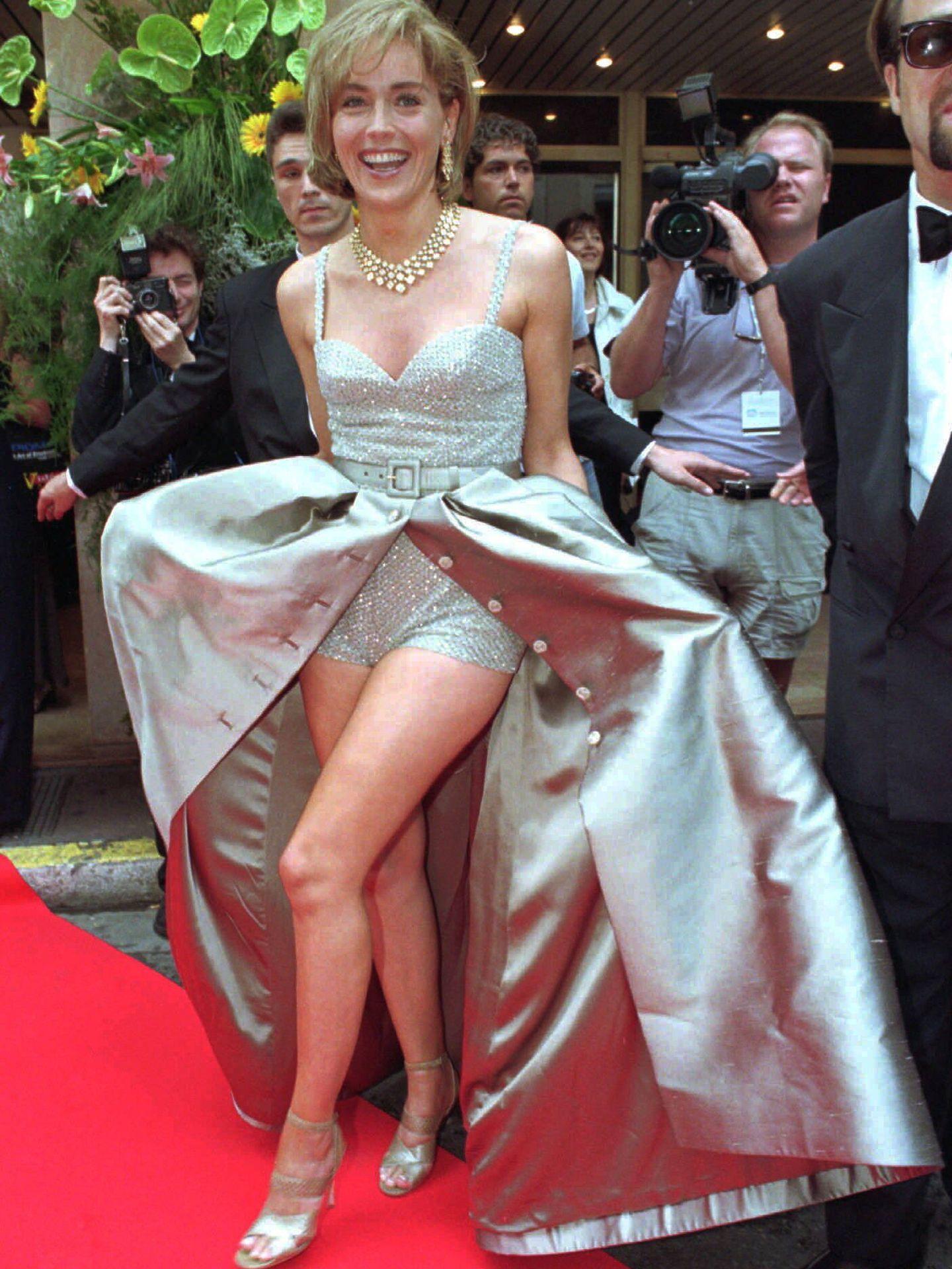 Sharon Stone, en el Festival de Cannes de 1995. (Cordon Press)