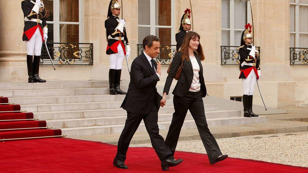 Foto:  Nicolás Sarkozy y Carla Bruni, en una imagen de archivo. (Getty)