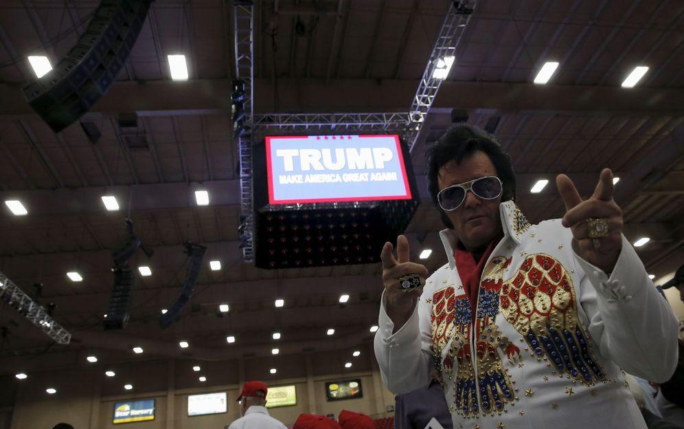 Foto: Paige Poole, votante de Donald Trump, durante un mitin electoral del candidato en Las Vegas, Nevada, el 22 de febrero de 2016 (Reuters).